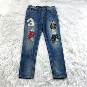 Polo Ralph Lauren Boyfriend Jeans Distressed Patch